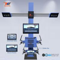 Quality Tablet Control Portable Wheel Alignment Machine , 4 Wheel Four Cameras 3d Wheel for sale