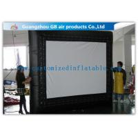 China Customized Inflatable Backyard Movie Screen 3 * 3m For Outdoor Events wholesale