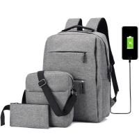 China Oxford 15.6 Inch Light Set Usb Business Laptop Backpacks wholesale