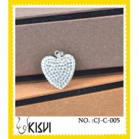 China Czekh crystal & 925 silver heart handcrafted crystal Charm for unisex, women wholesale
