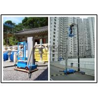 China Vertical Single Mast Lift Aluminum Work Platform With 10 Meter Platform Height wholesale