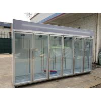 Quality Free Standing Glass Door Refrigerator Showcase Cold Storage Chamber for sale