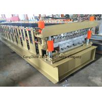 Buy cheap 1 Year Warranty and Colored Glaze Steel Tile Type Roof roll forming machine from wholesalers
