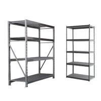China Fiberboard 4 - 5 Levels Rivet System Boltless Metal Shelving For Home / Office wholesale