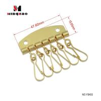 China 47.6*18.65MM Gold Key Ring Holder for Leather Purse Cases on sale