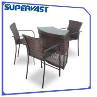 Pub height resin wicker patio furniture bar furniture set curved table