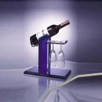 China Eco-Friendly Acrylic Wine Display Holder For 1 Bottle , 2 Glasses wholesale