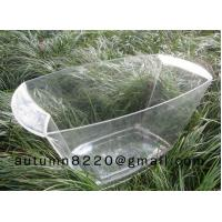 China clear plastic champagne ice bucket wholesale