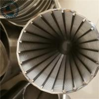 China Stainless Steel Wedge Wire V Shaped Wire Slot Screen Pipe For Screening wholesale
