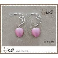 Quality Pink Fashion 925 Sterling Silver Gemstone Earrings with Opal W-AS998 for sale