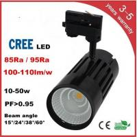 Quality CREE COB LED Track Light 3 years warranry isolated IC constant driver high PFC for sale