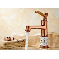 China Single Handle Rose Gold Antique Basin Faucet Drinking Water Filter ROVATE wholesale