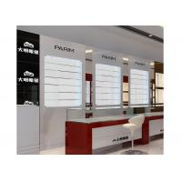 China Eyeglasses Shop Glass Display Wall Cabinet With LED Light , Jewellery Display Cabinets wholesale