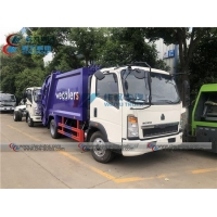 China HOWO 5000L Self Compressed Garbage Compactor Truck wholesale