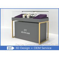 Quality Wood Base Gray Lacquer Jewelry Store Display Case‎ MOQ Is Only 5 Pcs for sale