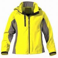 China Women's outdoor jacket with 3-layer soft shell fabric wholesale