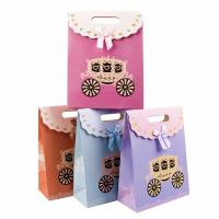 China Cute Colorful Cardboard Bag 230g White Cardboard Material Customized Size wholesale
