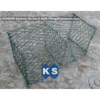 China Hexagonal Mesh PVC Gabions , Welded Coated Galvanized Gabion Baskets wholesale