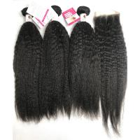 """China Kinky Straight Human Hair Peruvian Body Weave 22""""  No Smell Curling Safe wholesale"""