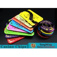 China Crystal Acrylic Casino Poker Chips With Mesh Bronzing Silk Screen wholesale