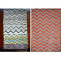 Buy cheap Five Geometrical Design Teal Velvet Upholstery Fabric With Seven Color from wholesalers