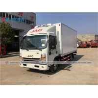 China JAC 4X2 5T Refrigerator Box Truck For Transporting Frozen Fish wholesale
