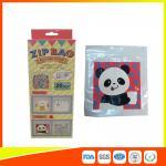 HDPE Plastic Custom Printed Ziplock Bags / Resealable Personalized Packaging Bags