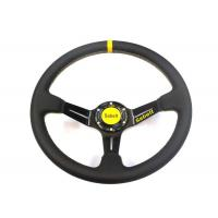 China Auto Inner Decoration Race Car Steering Wheel With Chromed Surface  Leather Material wholesale