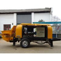 China HBTS Mobile Diesel Portable Hydraulic Trailer Concrete Pump wholesale