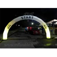 China Outdoor Advertising Inflatable Entrance Arch Oxford Cloth Door Arch With LED Light wholesale