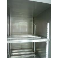 Quality Kitchen / Grocery Commercial Upright Freezer 4 Doors Double Temperature With Easy Moving Wheels for sale