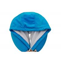 China Novelty Hooded Memory Foam Neck Pillow , Airplane Neck Pillow for Flight wholesale