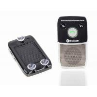 Quality Bluetooth speakerphone hands free car kit with solar power for sale