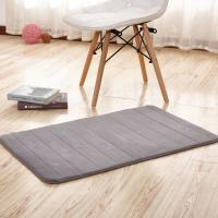 China Thick Memory Foam Floor Mats , Bulky Fleece Fabric Grey Fast Drying Bath Mat wholesale