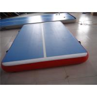 China 5cm Indoor Tumble Track Equipment , Blue Air Track Trampoline With ROHS/SGS CERT wholesale