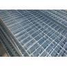 China Plain Type Walkway Mesh Grating , 25 X 5 / 30 X 3mm Bearing Bar Galvanized Steel Grating wholesale