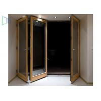 China Customerized Size Aluminium Folding Doors With Powder Coating Surface Treament wholesale