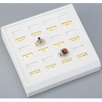 12 Slots Of Ring Tray In White PU Leather For Finger Ring Display