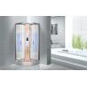 China KPN2064 Customized Circle Glass Shower Cabin , Curved Corner Shower Units wholesale