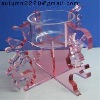 China CH (18) clear crystal candelabra wholesale