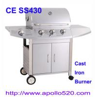 China Barbecue 3 Cast Iron Burners with side cooker wholesale