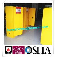 Quality Yellow Flammable Safety Cainets , Industry Flame Proof Storage Cabinets for sale