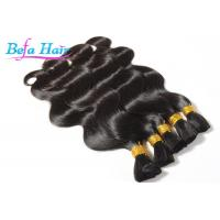 "China Wet And Wavy Indian 17"" 23"" 100% Human Hair Bulk Long Lasting wholesale"