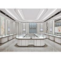 Matte White Jewelry Store Display Cases , Jewellery Display Counter