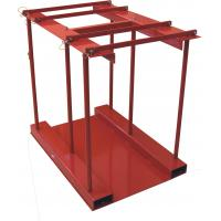 China 800 Lbs Capacity Gas Cylinder Caddy With Hinged Divider Bar / Steel Ramp wholesale