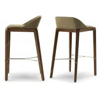China European Style Commercial Bar Furniture Metal Counter Stools With Stainless Steel Leg wholesale