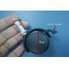 China 30mm wheel  black nylon brake 8mm dia grip ring 360 degree swivel  stem rod castor wholesale