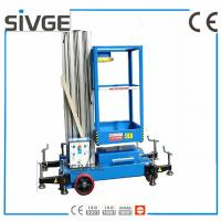 China 6 Meters Aerial Lift Platform Trailer Mounted Aerial Platform Lift In Blue Color wholesale