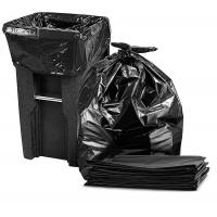 China Durable 65 Gallon Trash Bags , Black Disposable Recyclable Rubbish Bags wholesale