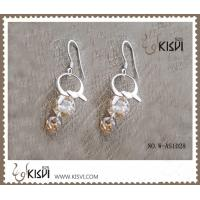 China 925 fashion sterling silver gemstone earrings with zircon W-AS1028 wholesale